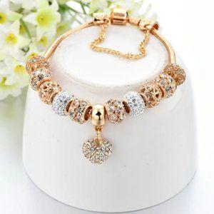 Charm Gold Tone Bracelet Jewelry